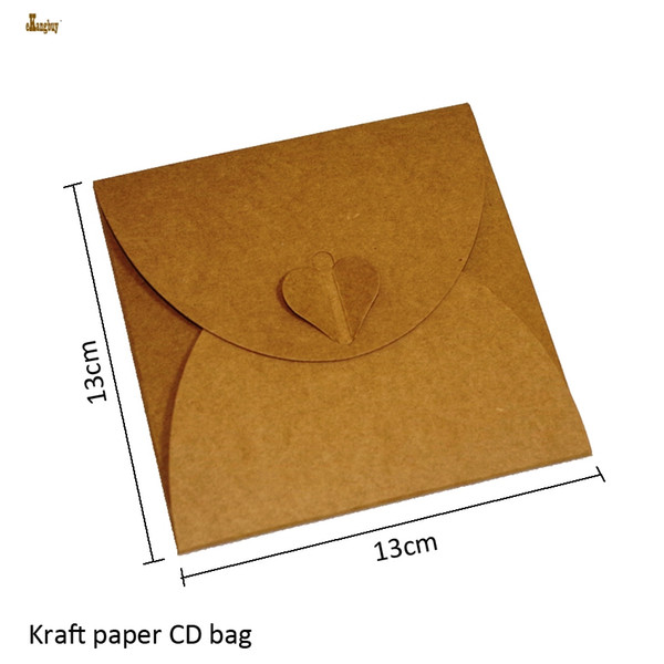 2018 Real Sale 50x Square 13cm Kraft Paper Dvd Sleeve Cd Packaging Bag Cases Packing Cover Holder Boxes Envelopes Party Wedding Baby Shower