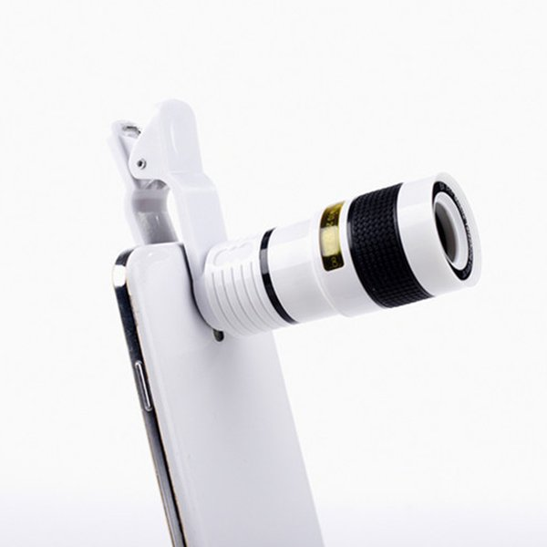 Universal 8X Optical Mobile phone Zoom Telescope Camera Lens Clip Mobile Phone Telescope For iPhone 6 plus for Samsung s6 note 5 for Huawei
