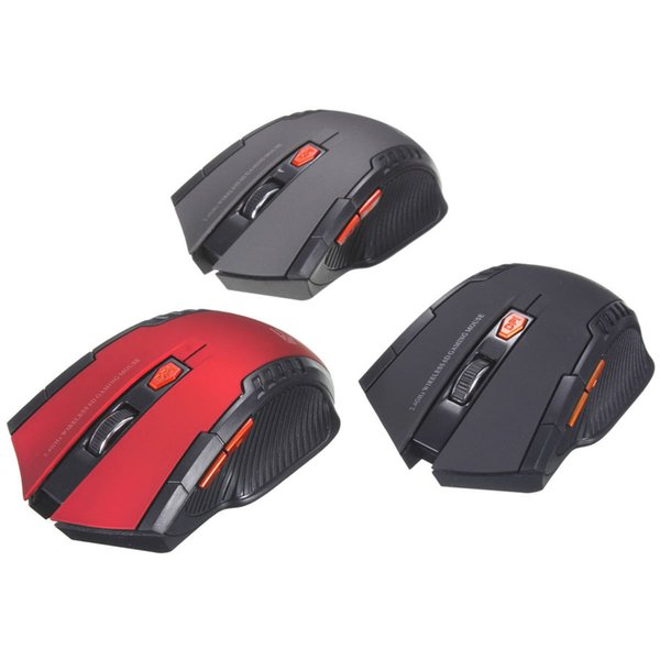 top popular New 2.4Ghz Mini Portable Wireless Mouse USB Optical 2000DPI Adjustable Professional Game Gaming Mouse Mice For PC Laptop 50pcs lot 2019