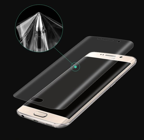 For Galaxy S8 Note 8 Full Coverage Curved Soft TPU Anti-Shock Front Screen Protector Film For iPhone 7 6S Plus Samsung S7 Edge S8+ Plus