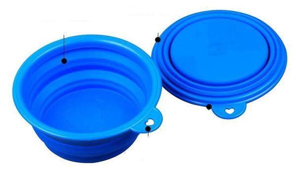 Ciotola di acqua portatile alimentabile del piatto di alimentazione pieghevole del piatto del cucciolo del cane del cucciolo di cane 50PCS