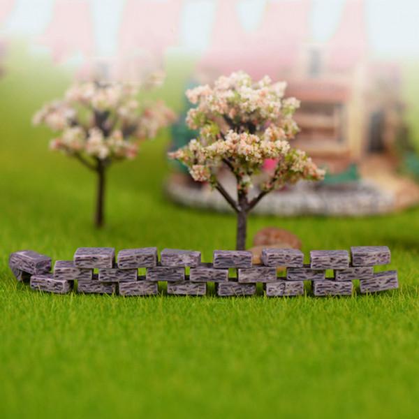 20pcs Brick Statue House Siege Resin Craft Mini Fairy Garden Miniatures Terrarium Figurines Bonsai Tool Landscape Jardin Gnomes