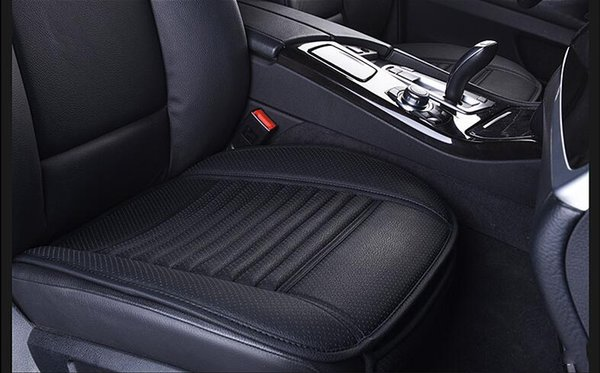 Sunzm High quality Breathable2pcs Car Interior Seat Cover Cushion Pad Mat for Auto Supplies Office Chair with PU Leather Bamboo Charcoal Car