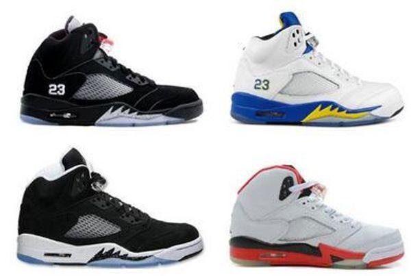 5s Basketball-Schuhe der Trauben-Schwarz-Männer feuerrotes Laney weiß, Schuhe 5 V Oreo Og Silber mit Kasten geben Verschiffen frei