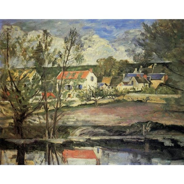 Handmade oil painting Paul Cezanne In the Valley of the Oise modern art Landscapes for bedroom decor