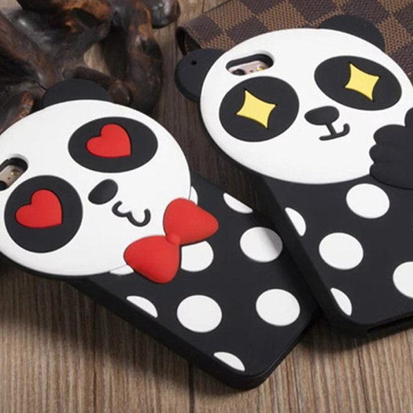 Silicon Bumper Back Cover Cute 3D Cartoon Bear Couple Case for iphone creative,Silicone cell phone protector