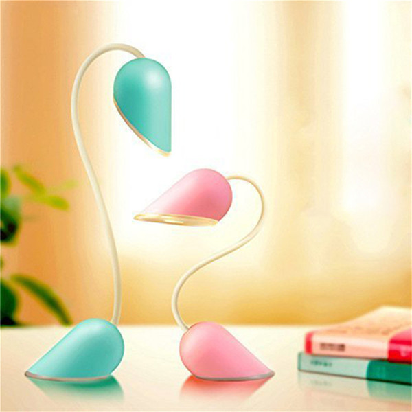 Adorable Heart Lock 14 LED Twistable Night Lamp 3 Modes Smart Touch Switch USB Charging Dimmable Reading Light