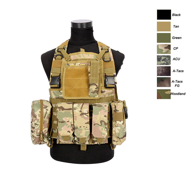 Outdoor Sports Outdoor Camouflage Body Armor Combat Assault Waistcoat Tactical Molle Vest Plate Carrier Vest NO06-004