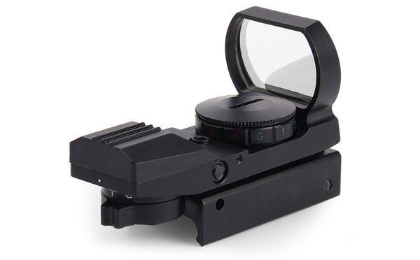 20mm Rail Riflescope Caça Airsoft Scope Holográfica Red Dot Sight Reflex 4 Reticle Tactical Gun Acessórios