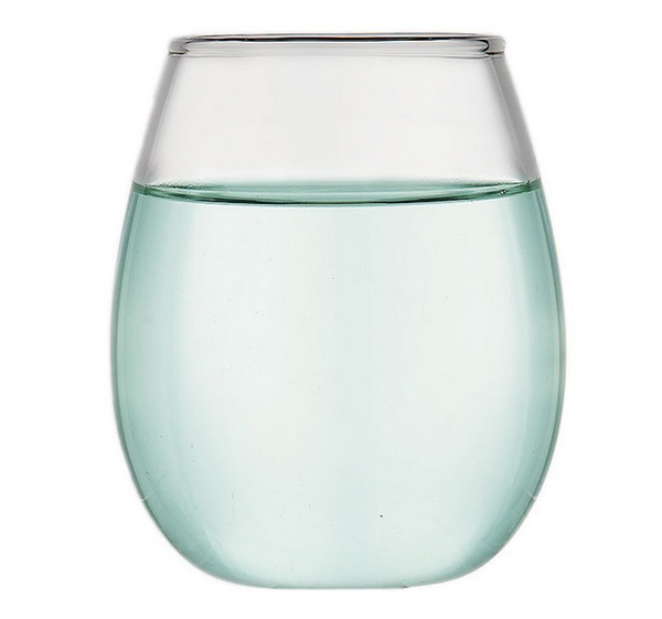 DHL & sf _express 12oz Stemless Wine Glasses glass Wine Cups Eggshell shape wine glasses Champagne cocktail cup