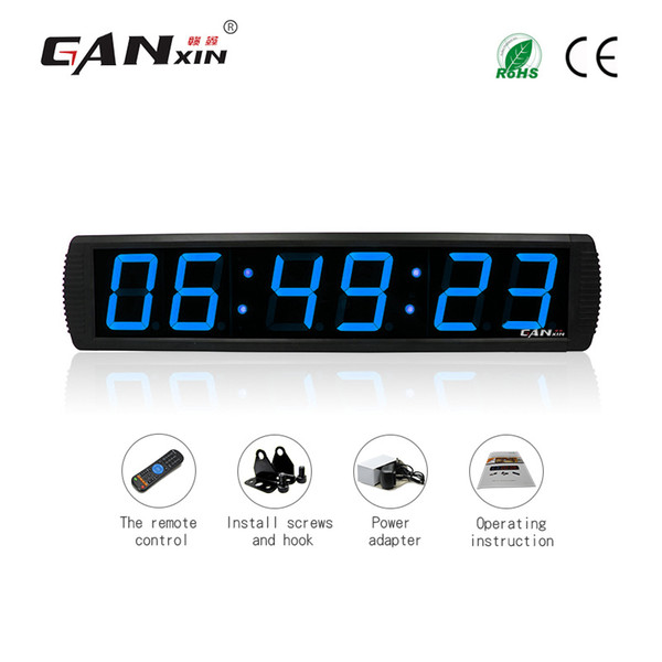 best selling [GANXIN]4 inch 6 Digits LED Display Digital Office Clock Garage Edition Wall Timer countdown clock