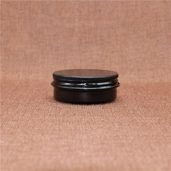 100pcs Small 30g Black Aluminum Jar Empty Cosmetic Lip Balm Batom Eye Cream Tin Screw Cap Wax Container Free Shipping