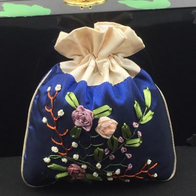 Handmade Drawstring Jewellery Trinket Bag