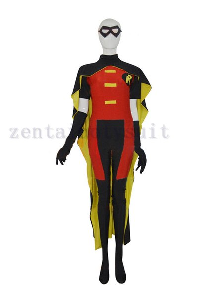 Red Robin Strong Mens' Superhero Costume Cosplay Halloween party Suit free shipping