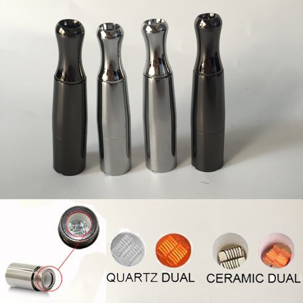Metal Puffco Wax Vaporizer Skillet V two Dry herb Atomizer with Dual Quartz Ceramic Coils Metal Drip Tip for 510 thread battery