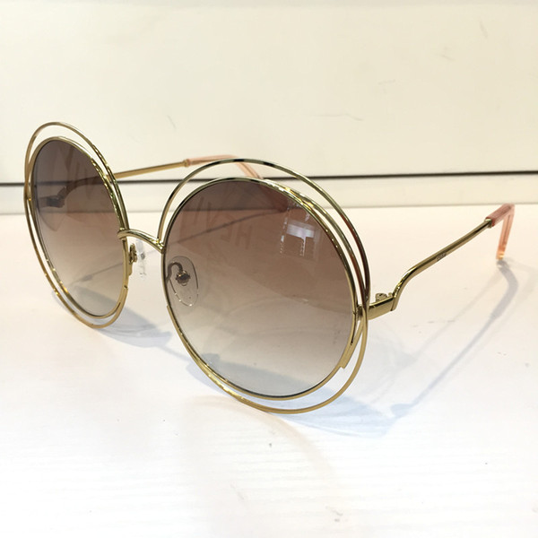 Gafas de sol de lujo 114S para mujeres Deisnger CE114S Cara redonda grande Uv400 Estilo de verano Len Adorno de mariposa Adumbral Gran cara mixta con estuche