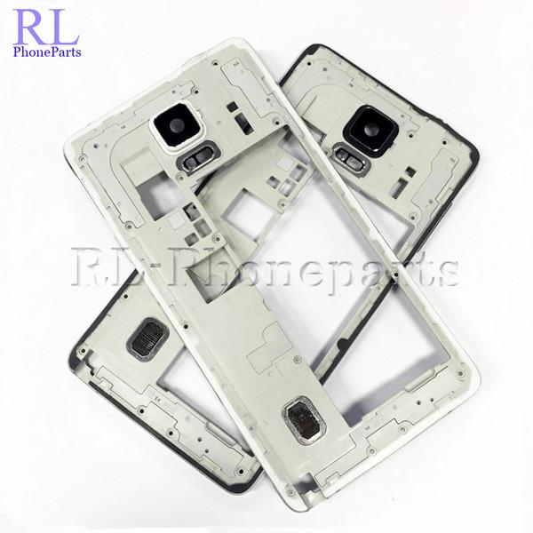 10 teile / los Weiß Schwarz Für Samsung Galaxy Note 4 N910A N910A N910T Blendenplatte Mittleren Rahmen Gehäuse Pro Summer Kameraobjektiv