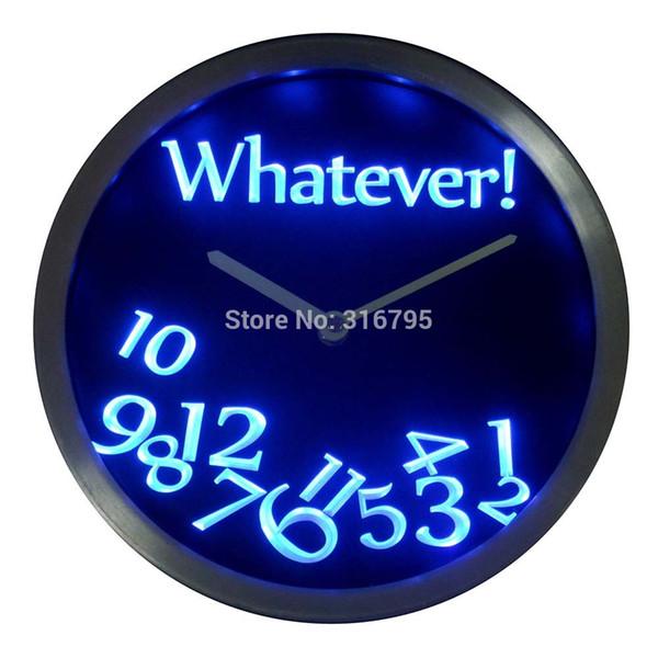 Toptan-nc0464 Ne Zaman Çubuğu Bira Emekli Hediye Dekor Neon LED Duvar Saati