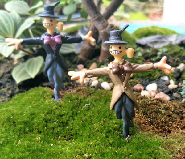 8pcs moving castle Zombie scarecrow fairy garden miniatures figurine terrarium ornaments home bonsai decor moss micro landscape