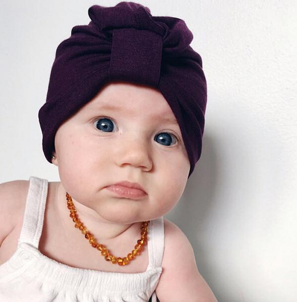 Nouveaux enfants chapeaux unisexe rayé polka or point bonnet mode bonnets chauds Infant au crochet costume bébé beanies Inde bonnet musulman