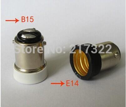 Adaptador 500PCS, BA15D a E14 Zócalo de conversión Material ignífugo de alta calidad Adaptador de zócalo BA15D a E14 Soporte de lámpara