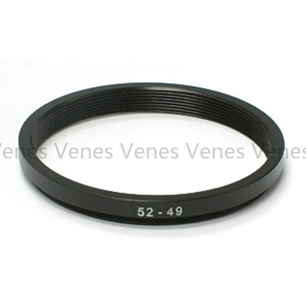 Wholesale- 52-49mm Step-Down Metal Lens Adapter Filter Ring / 52mm Lens to 49mm Accessory