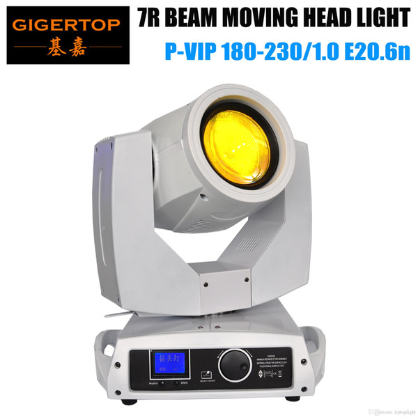 TIPTOP TP-7R Stage Moving Osram 230w Sharpy 7R Moving Head Beam Light Sharpy Beam 16 Prism White Case Glass Color/GOBO wheel smooth dimmer