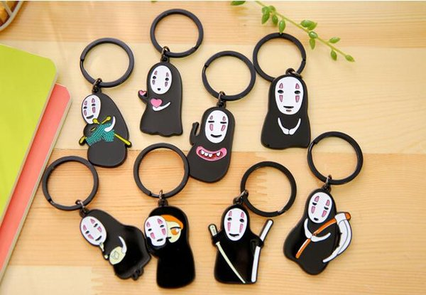 Free shipping Cute No Face Male Key Ring Couple Key Chain Male Couple Pendant R185 Arts and Crafts mix order
