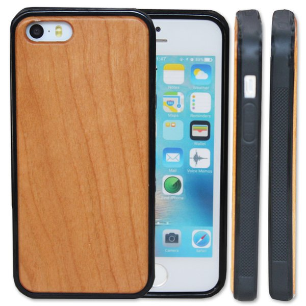 Reasonable Price Wood Custom Phone Cases For Iphone 5 5s SE 6 6S 7 8 plus 10 X Cherry Wooden Case Bamboo Cell phone Cover S9 S8 S7 Note 8