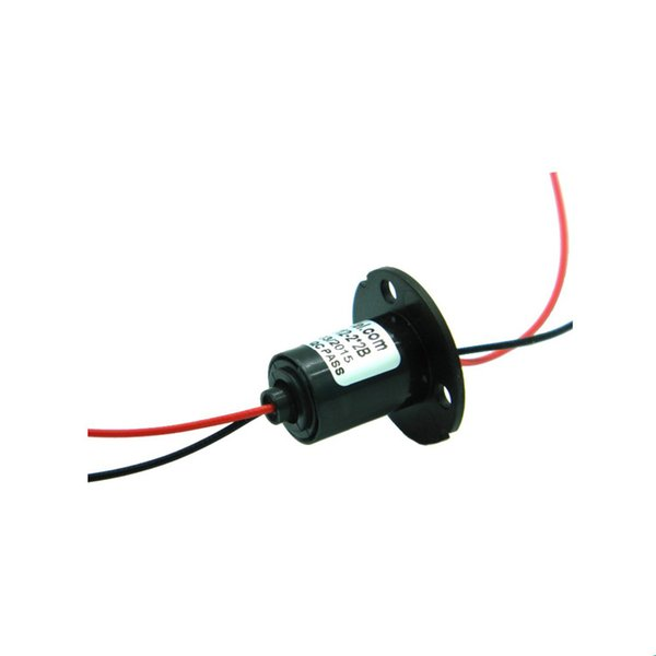 2 Channel 2A Conductive Slip Ring Elertrical Collect Wind Power Slip Rings Dia. 12.5mm Mini Slip-rings