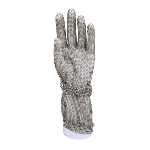 8CM Safety Cut-proof Gloves Stainless Steel Wire Durable Glove Butcher Metal Mesh Anti-piercing Metal Gloves,1PC