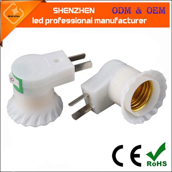 prise d'alimentation usine avec interrupteur E27 support de lampe à vis murale, support de lampe en plastique offre spéciale conversion par lots