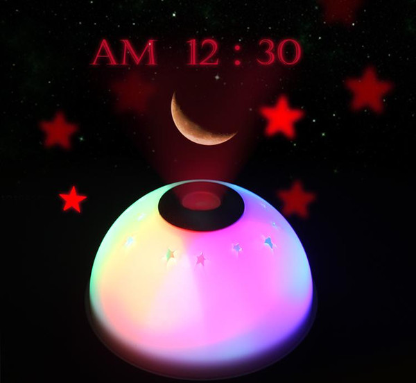 Clock Luminous creative dream temporal projection LED mute table clock electronic alarm lazy snooze bedside