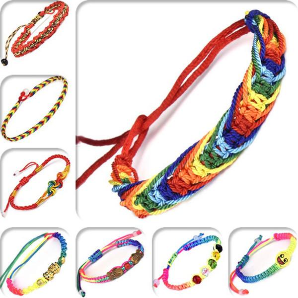 XS Fashion Health Attività per piccoli doni Regalo Tessuti a mano Junior Line 5 Colori Corda colorata per bracciale donna all'ingrosso