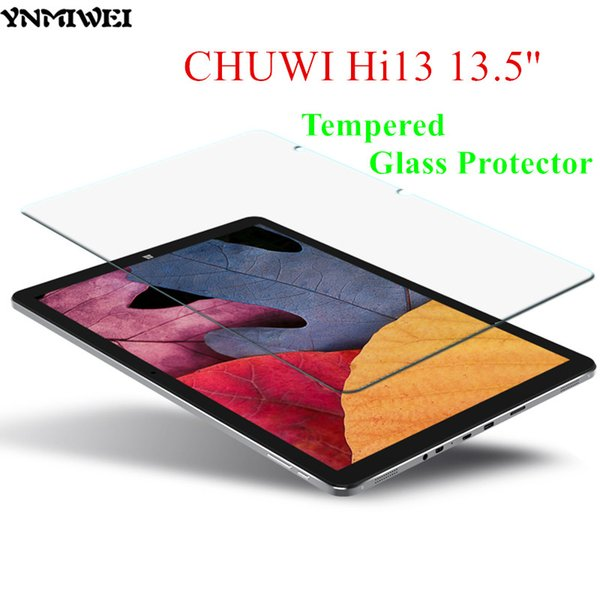 Wholesale- YNMIWEI Hi13 Glass Protector 13.5 inch Protective Flim for CHUWI Hi13 Screen Protector 2.5D 0.3 MM Tempered Glass Protector