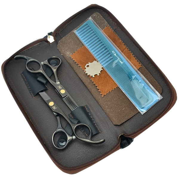 5.5Inch Meisha Hair Scissors Salon Scissors Set Hair Cutting Scissors Black Barber Thinning Shears JP440C Hairdressing Salon Tool, HA0034