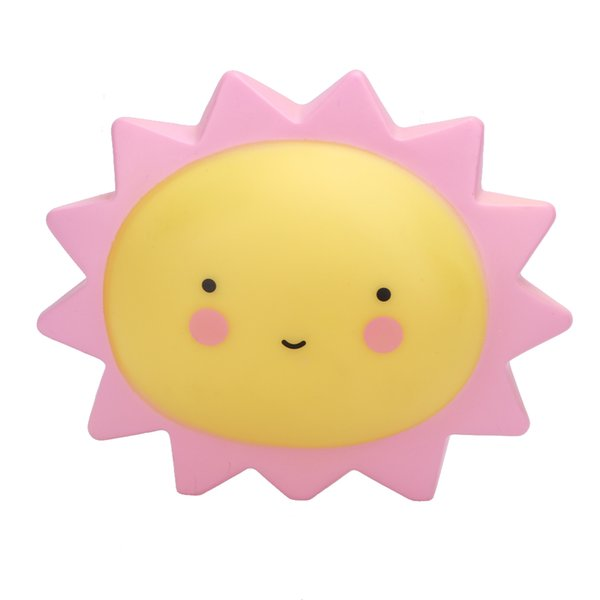 Wholesale- Creative LED Lamp Luminous Night light-up Sun Silicone Lovely LED Sun Night Light Toy for Children Cute Bedroom Lamp Toy Gift