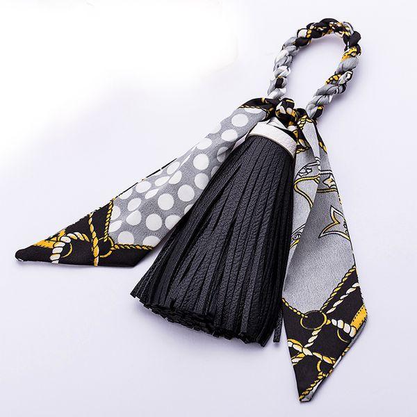 Bunte mode-accessoires schlüsselanhänger bowknot exquisite dekoration pu leder quasten schlüsselanhänger frauen taschenanhänger anhänger schlüsselanhänger