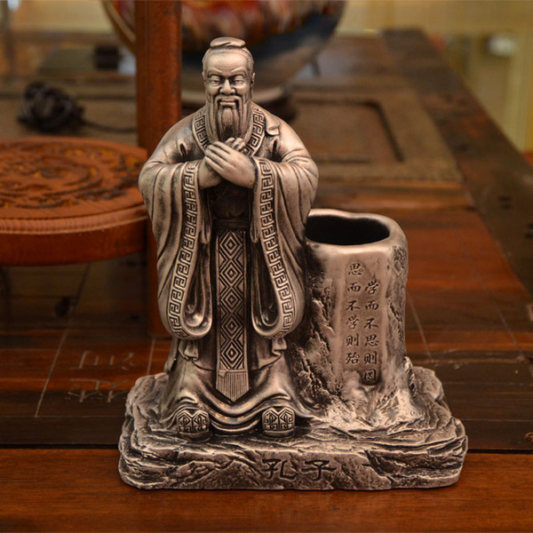 Creative Chinese wind retro Confucius pen desk personalized birthday gift ornaments jewelry bag mail