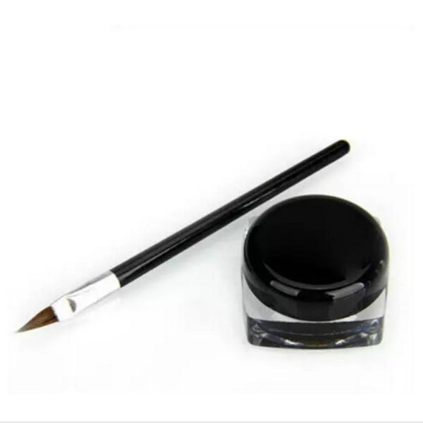 Neue Wasserdichte Eyeliner Bleistift Make-up schwarz Flüssige Eyeliner Shadow Gel Makeup + Pinsel Schwarz maquiagem