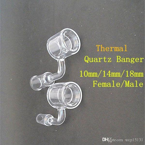 Последний дизайн Кварцевый термобельер Dmeless Кварцевый гвоздь 10мм 14мм 18мм Двойной трубчатый кварц Термальный гвоздь для стеклянных бонгов Термальный P-баннер