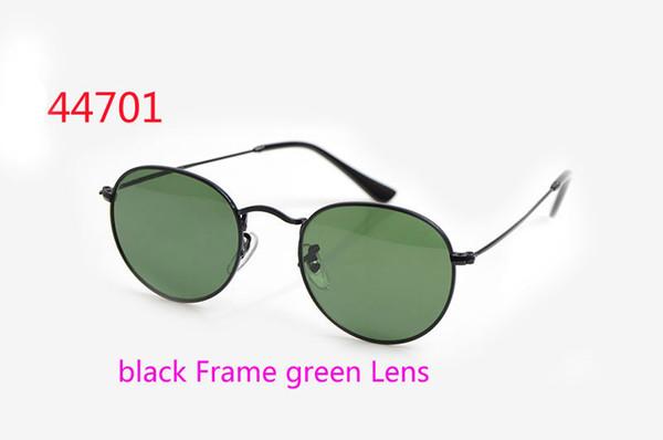 Telaio nero Lente verde