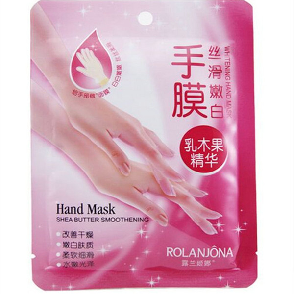 best selling ROLANJONA whitenging hand mask shea butter smoothening Peeling RenewalRemove Dead Skin Smooth Exfoliating Moisturizing Gloves free