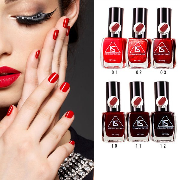 Wholesale New Brand Nail Polish Fashion Red Color 16g Cheap Nail Art