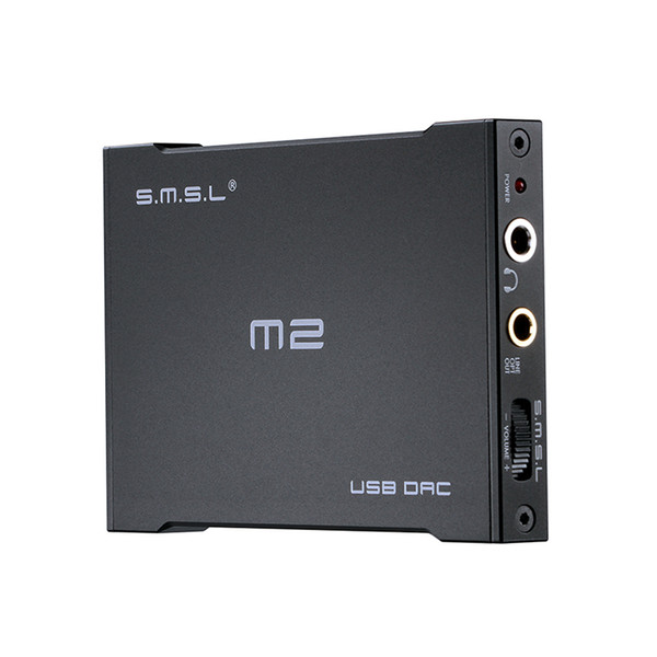 Freeshipping Portable Headphone Amplifier USB Decoder DAC External Sound card Built-in Amp Fiber & Analog Output