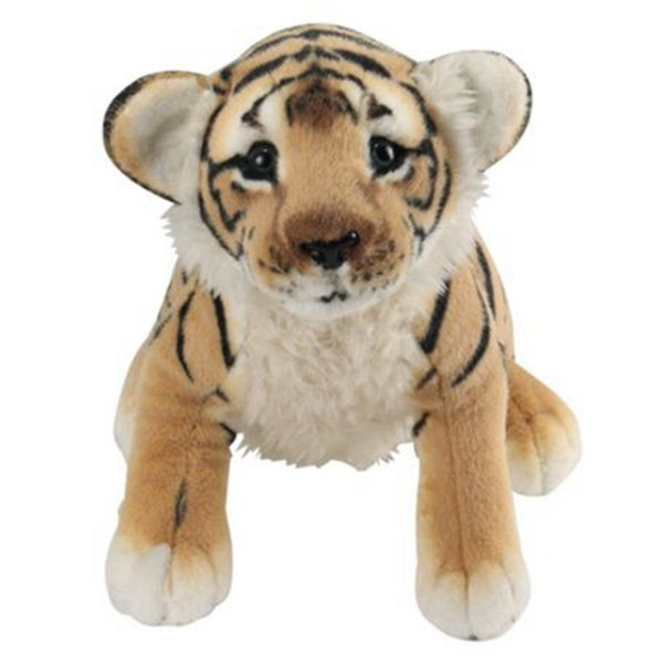 45cm Squatting Brown Tiger