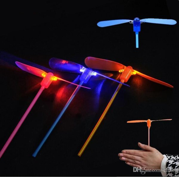Dragonfly Toy Flying Dragonfly Helicopter Boomerang Frisbee Flash Child Toy Gift Aue Bamboo Dragonfly Stall Selling Luminous Toys Flash flye
