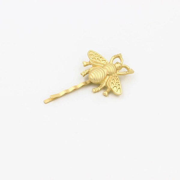 fashion women jewelry brand bijoux bee hair pins gold clips for hair bridal wedding accessories wholesale 12pcs