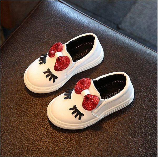 best selling Kids Girls Autumn Shoes With Bow Fashion Sneaker Children Baby Girl Casual Sport Shoes Waterproof Slip-Resistant Cute Shoe