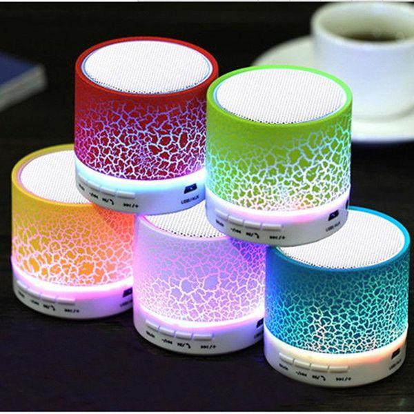 2019 Мини портативный S10A9 текстуры треск Bluetooth-динамик со светодиодной подсветкой может вставить U диск, плеер мобильного телефона с розничной коробкой